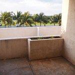 Traurige Aussicht vom Schlafzimmer-Balkon
