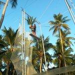 Practicando trapecio