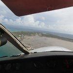 Flying into Salt Cay