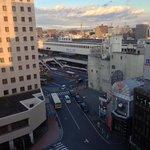 ホテルから見える宇都宮駅
