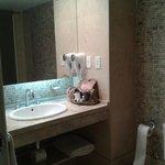 banheiro espacoso e decoracao moderna