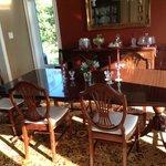 Sunny dining room at Ard Macha B&B.