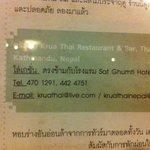 news paper about krua thai at bangkok