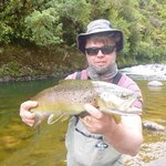 nice size brown caught on guide trip with TroutBeckLodge