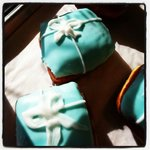 I had a Tiffany Box Donut!?!  Now that really is breakfast at Tiffany's!!