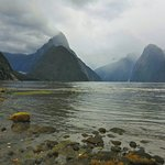 The goal at the end of the Milford track.  The beautiful Milford Sound