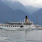Винтажный пароход на Лемане