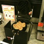 Hot Texas-shaped waffles!