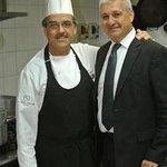 Lo Chef Cosimo Simmini con il Maitre Giovanni Maschio
