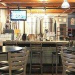 brew vats behind the bar