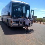 Tony, our driver on the Emurun out to Uluru and the Olgas