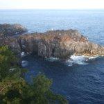 門脇埼灯台展望台からの城ヶ崎海岸の風景