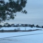 A brief moment of winter at the Lone Tree Golf Club and Hotel.  Lone Tree, Colorado.  On the Sou