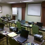 Our PLC training setup in their meeting room. Hotel staff takes care of snacks and getting lunch