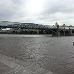 Krimsky Bridge over Moscow river- Gorky Park