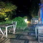 Relax in the garden of Hotel Du Centre with a coffee or apéritif