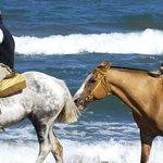 Romantica cabalgata por la playa