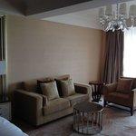 Living room area. King Grand Lake View room