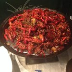 A dish of crawfish (we did not order this, but found it interesting)