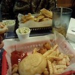 cajun crawfish pistols and catfish basket
