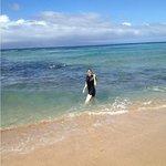 Snorkeling on the Lokelani Condo beach