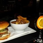 Burger, fries and mulled wine £7.99 deal