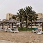 The sandy beach at the Intercontinental