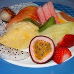 My plate with exotic fruit