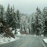 Snow-Covered Landscape in Bend, Oregon