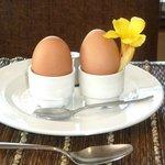 Boiled eggs to order, lovely breakfast
