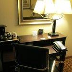Work desk, internet access, coffee.