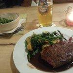Merido Rinder Steak in Schoko Chili mit Gemüse