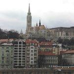 Вид на отель с другого берега Дуная