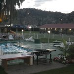 Evening at the outdoor pool