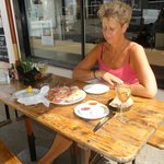 Outside seating in the summer sun