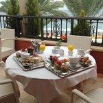 Gourmet breakfast on the balcony - magic