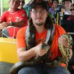 Anaconda caught while on the added boat trip.