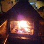 estufa en la sala común, muy caliente y agradable