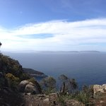 Immense eastward views from cliffs at Fluted Head