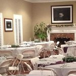 Rosehill Lodge, the event center set up for a wedding