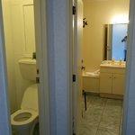 split toilet and bath