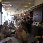 Pleasant outdoor dining at Amici Cafe
