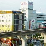 空港から2駅目小禄駅下車徒歩1分隣にはイオンショッピングセンター