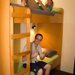 Large comfy dorm room with bunks