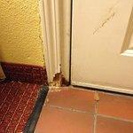 bottom of room entrance doorway