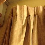 upper left portion of curtain