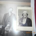 THIS IS AN OLD PHOTO OF MY GRANDFATHER AND A PHOTO OF HIS SISTER.