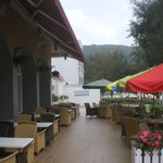 Terrasse vor dem Restaurant
