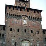 Front view of Castello Sforzesco