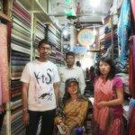 with  friends  in  Kaali Kalyan Handicrafts    shop